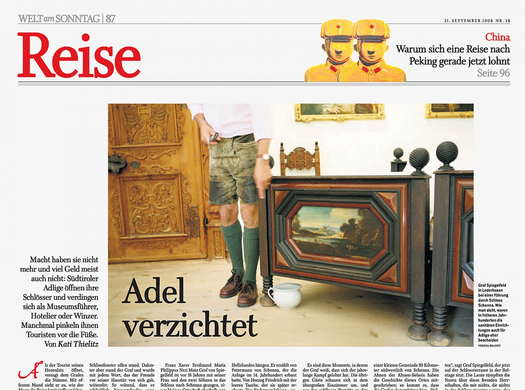 """Adel verzichtet"" / Welt am Sonntag"
