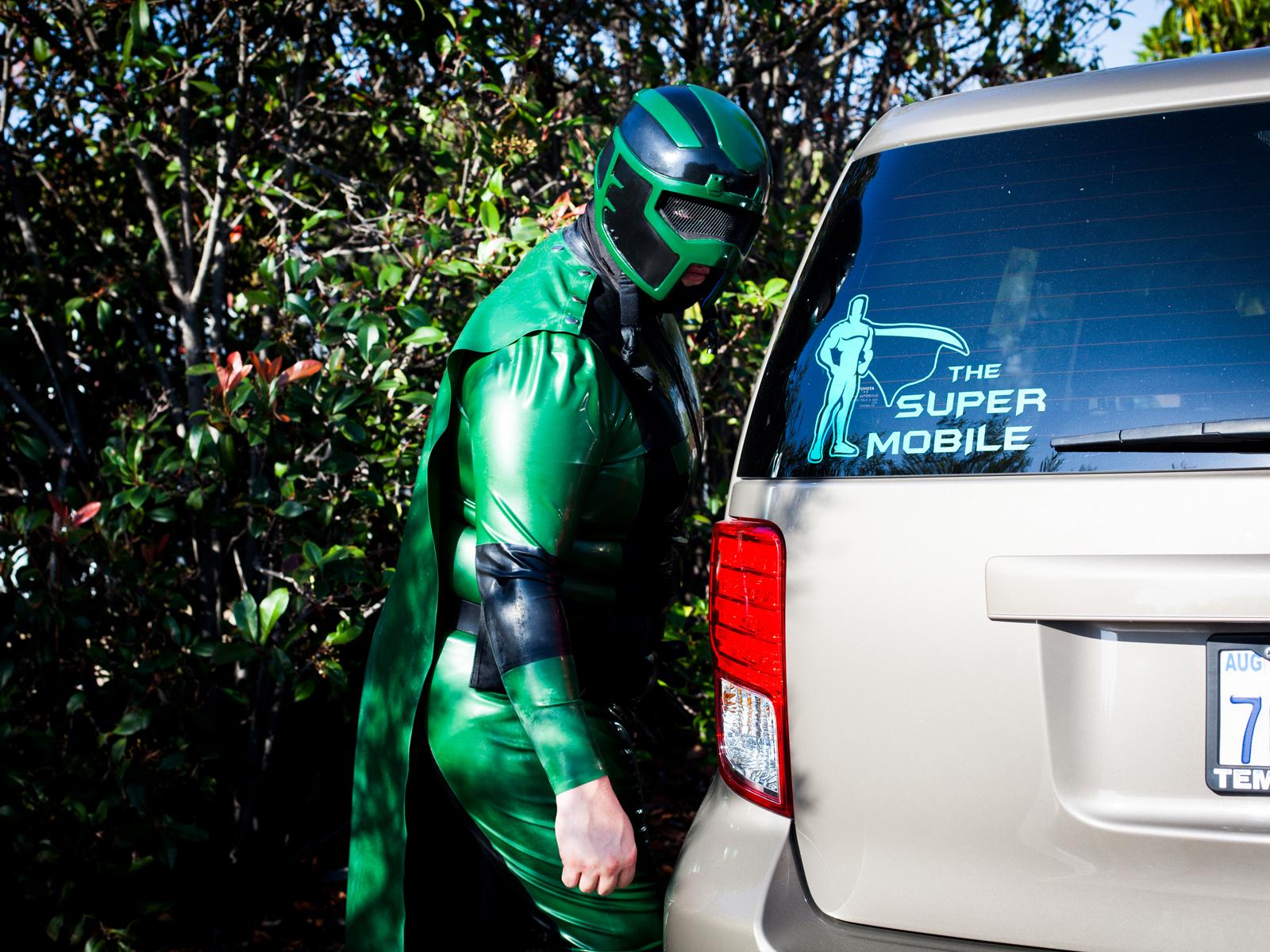 "Vortex and his ""Super Mobile"""