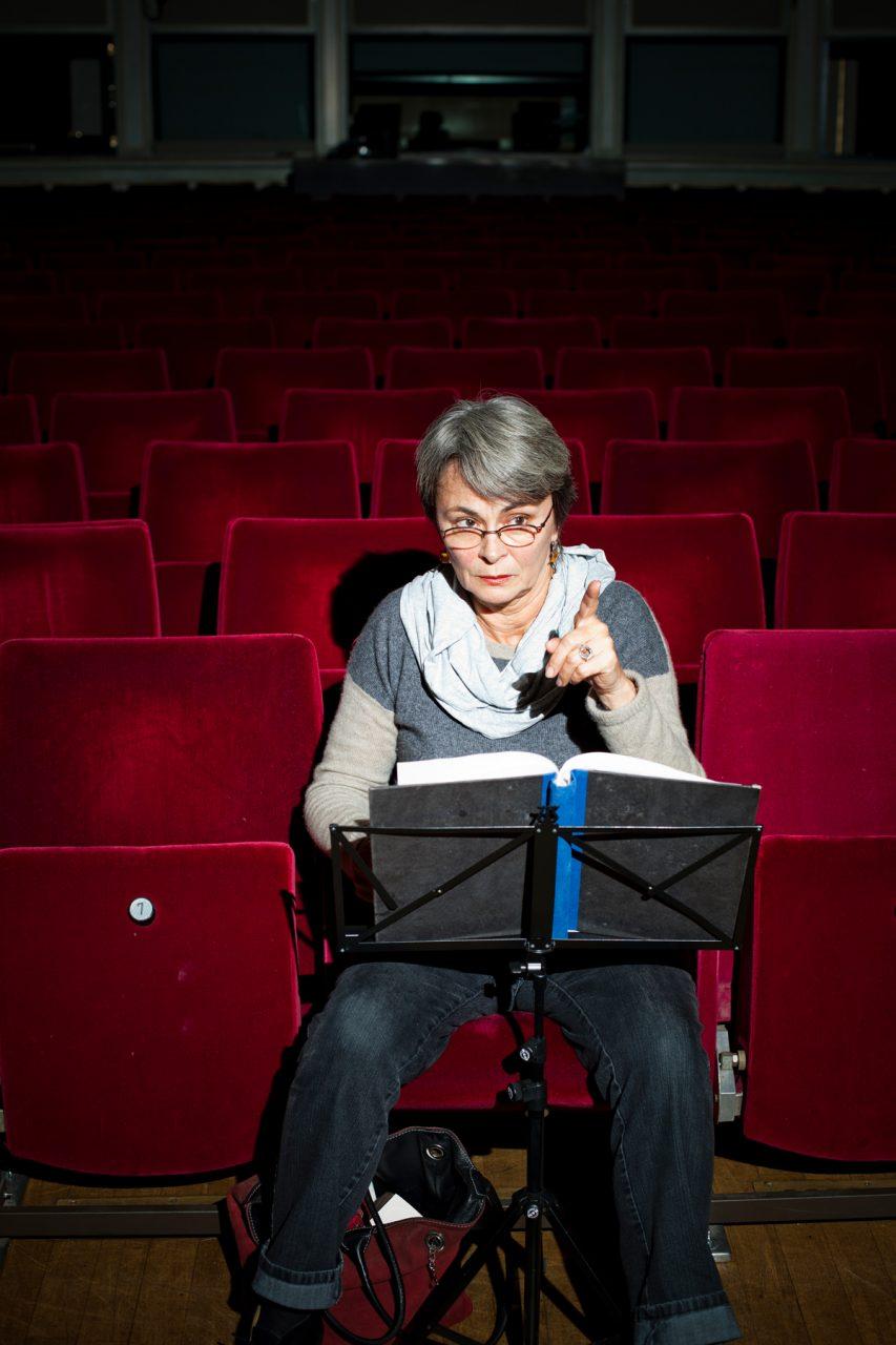 Bärbel Kleemann, Souffleuse im Maxim Gorki Theater bis 2014, für 'der Freitag'