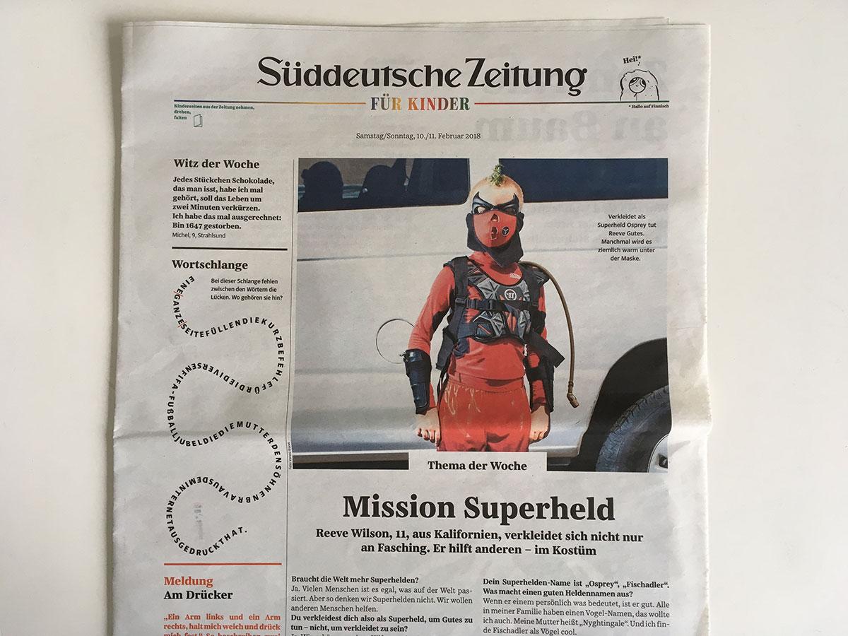"""Osprey from """"Superheroize Me"""" in Süddeutsche Zeitung"""
