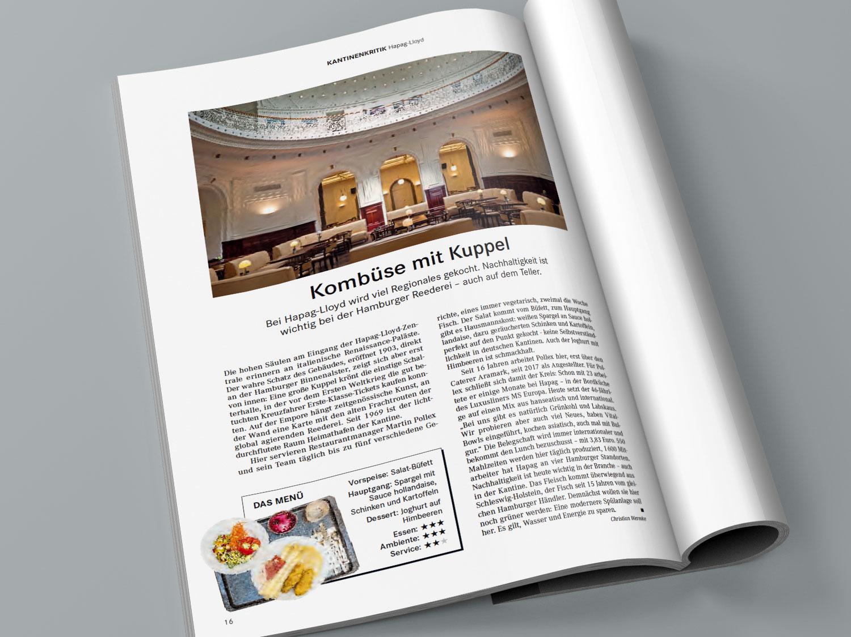 Handelsblatt Magazin Kantinentest Hapag Lloyd