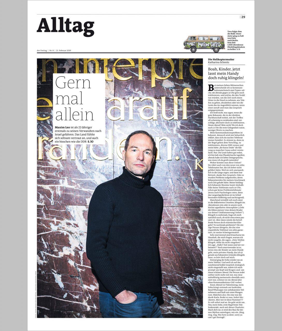 "Maxim Leo for ""der Freitag"""